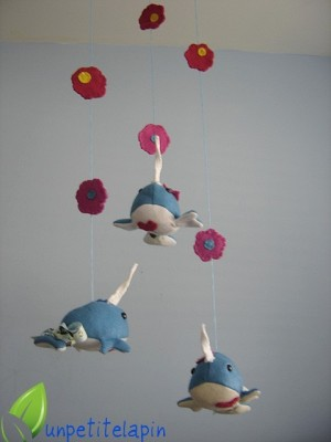 Narwhal Baby Mobile Neatorama