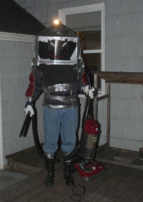 Protective Suit Improvised To Remove Nest Of Yellowjackets