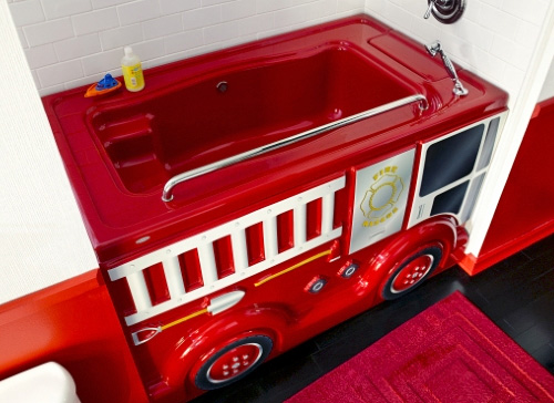 Fire Truck Bath Neatorama
