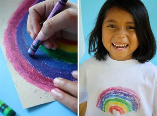 Crayon Designed Shirt Iron