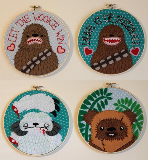 Star wars embroidery says sad wampa is sad neatorama etsy dt1010fo