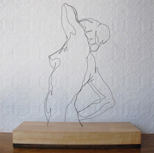 Wire Sculptures Of 2D Drawings