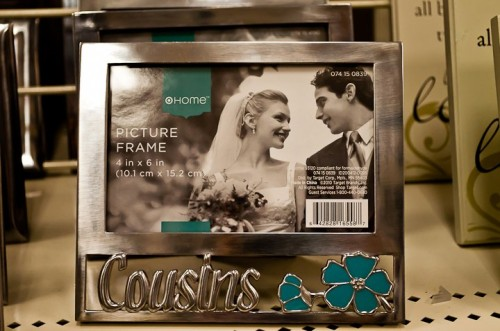 cousins personalized alder wood photo frame