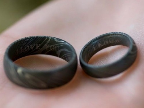 Steel Wedding Ring 45 Fancy For his wedding redditor