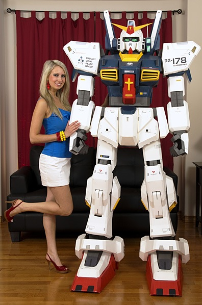 7 Foot Papercraft Gundam Neatorama
