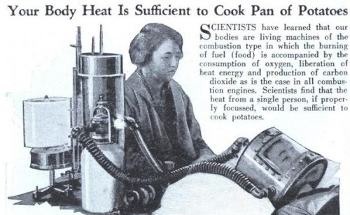 A Machine To Cook Potatoes With Human Body Heat Neatorama