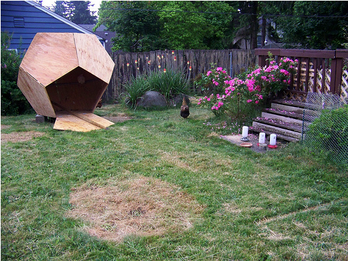 Dodecahedron Chicken Coop Neatorama