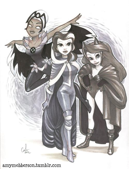 Disney Princesses As X-Men - Neatorama X Men Ariel