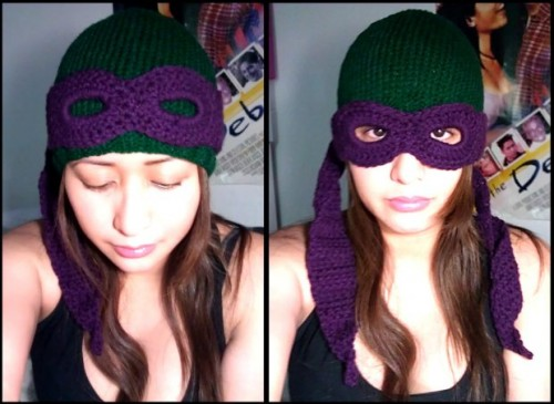 crochet ninja turtles mask