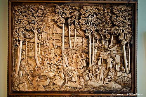 Carved Wood Paintings Neatorama