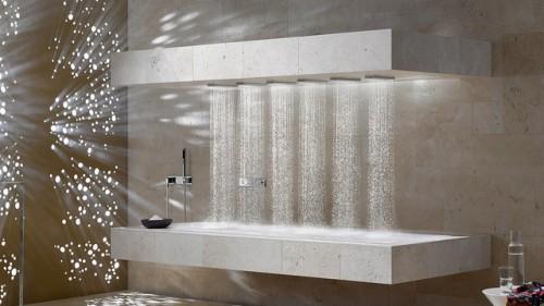 the horizontal shower neatorama. Black Bedroom Furniture Sets. Home Design Ideas