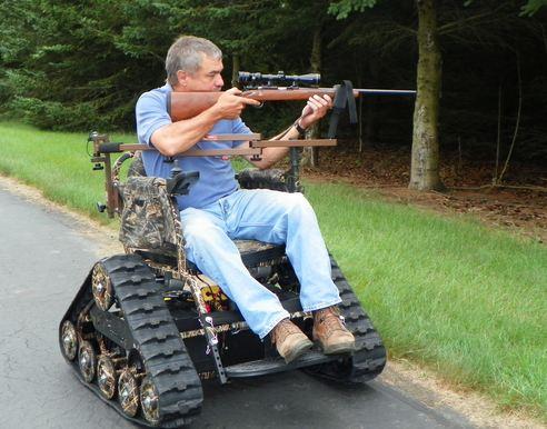 Tracked Hunting Wheelchair Neatorama