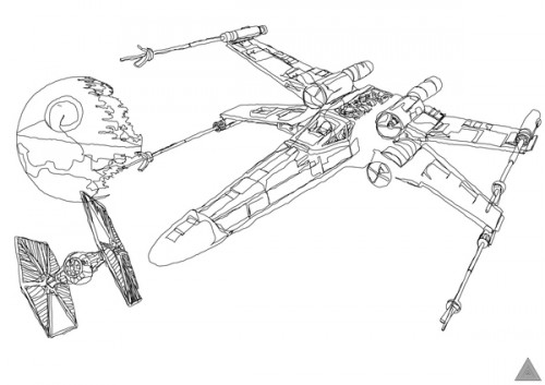 Star Wars Line Drawing Star Wars Continuous Line