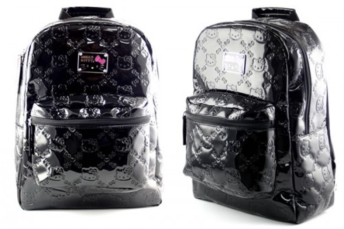 cc35bd7bc672 Black Patent Leatherette Hello Kitty Backpack - Neatorama