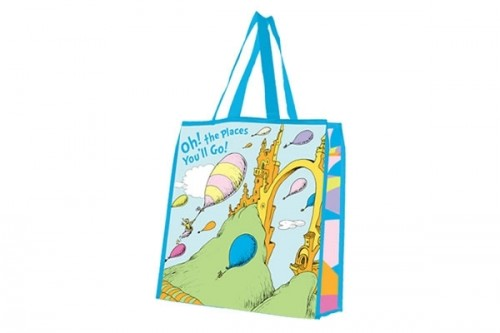 oh the places you ll go dr seuss large recycled shopper tote