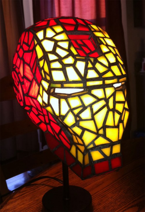 Awesome Iron Man Stained Glass Lamp Neatorama