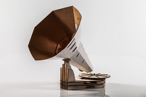 Diy Gramophone Made Of Paper And Plywood Neatorama