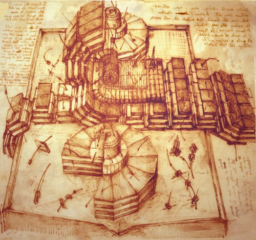 Science Design For Notebook: Sketches From Leonardo Da Vinci's Notebook: The Large