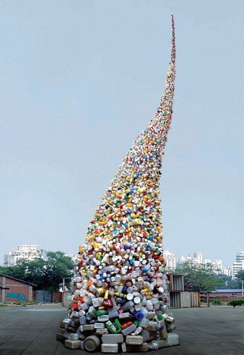 a 36 foot tall tornado made from plastic bottles neatorama