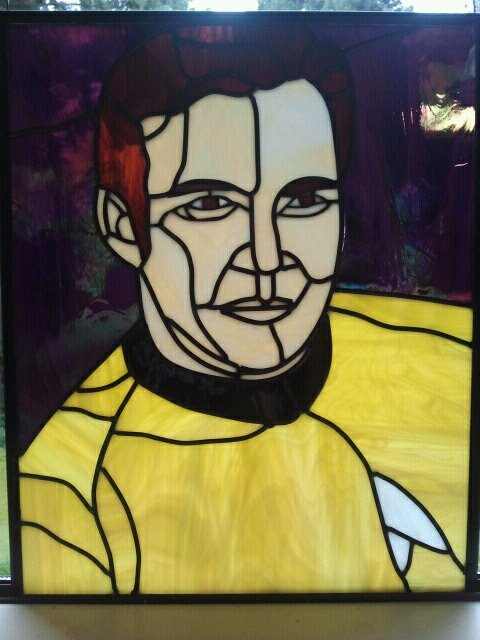 Captain Kirk In Stained Glass Neatorama