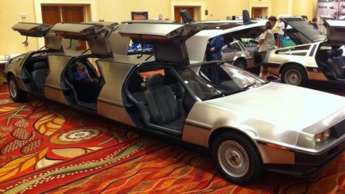 Delorean limo go back to the future in style in this limo j in and
