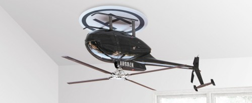 Upside Down Helicopter Is A Ceiling Fan Neatorama