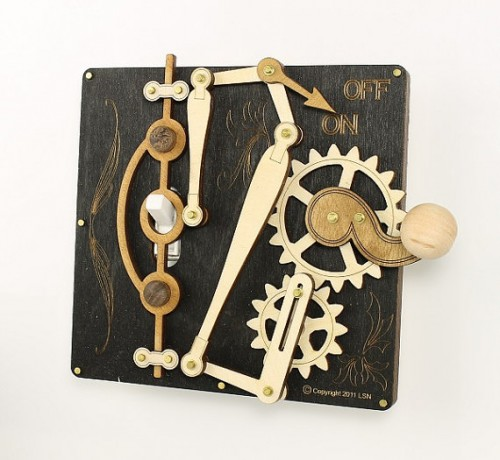 Etsy Er Greenteajewelry Makes Beautiful But Complicated Light Switch Covers Using Br Gears And Wood They Re Fully Functional