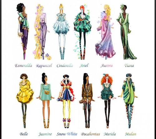 disney inspired fashion design sketches neatorama
